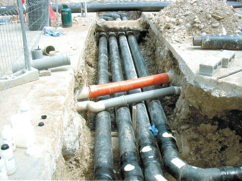 Tubazioni Riscaldamento e Acqua Refrigerata Interrata